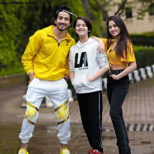 Ayaan Zubair with mr faisu and jannat zubair