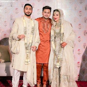 Awez Darbar brother and gauhar khan
